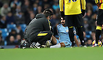 Ilkay Gundogan of Manchester City injury during the English Premier League match at The Etihad Stadium, Manchester. Picture date: December 12th, 2016. Photo credit should read: Lynne Cameron/Sportimage