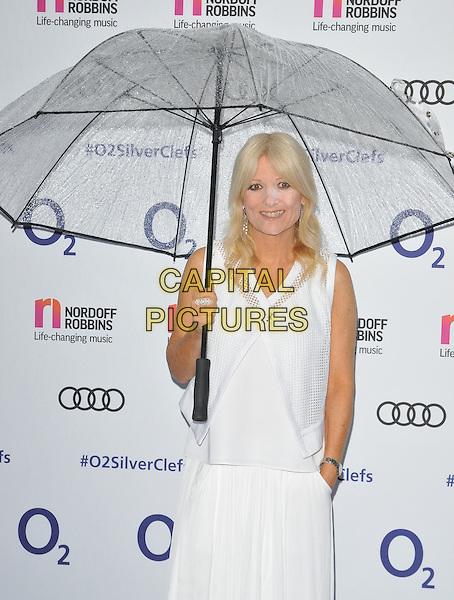 Gaby Roslin ( powdery face ! ) at the Nordoff Robbins O2 Silver Clef Awards 2016, Grosvenor House Hotel, Park Lane, London, England, UK, on Friday 01 July 2016.<br /> CAP/CAN<br /> &copy;CAN/Capital Pictures