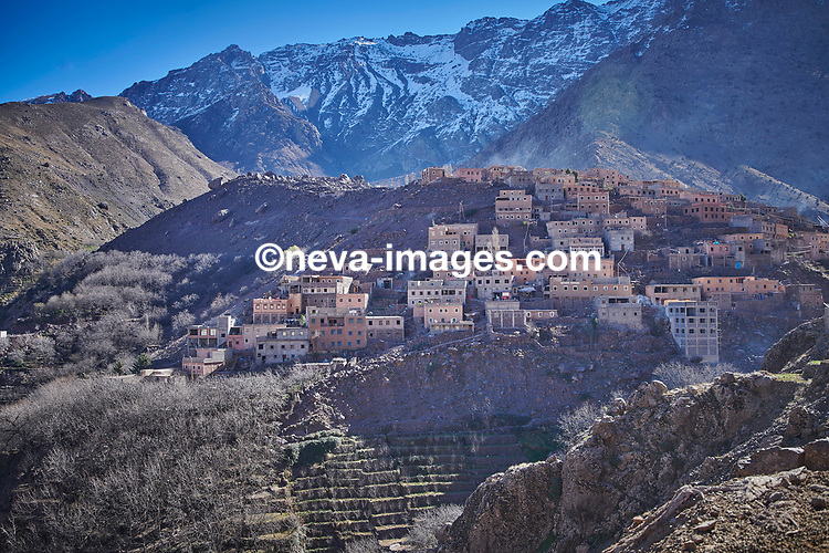 Rabat, Marrakech, du 9 au 12 janvier 2019, djhadiste Genevois arrêté, ici le village du Ahmed point de départ des randonneurs après Imlil dans le haut Atlas au sud de Marrakech © sedrik nemeth