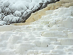 Yellowstone National Park, Wyoming:<br /> Patterns and texture of travertine on the lower terrace of Mammoth Hot Spring