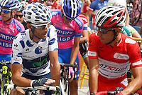 Alejandro Valverde (l) and Joaquin Purito Rodriguez during the stage of La Vuelta 2012 between Ponteareas and Sanxenxo.August 28,2012. (ALTERPHOTOS/Paola Otero) /NortePhoto.com<br /> <br /> **CREDITO*OBLIGATORIO** <br /> *No*Venta*A*Terceros*<br /> *No*Sale*So*third*<br /> *** No*Se*Permite*Hacer*Archivo**<br /> *No*Sale*So*third*