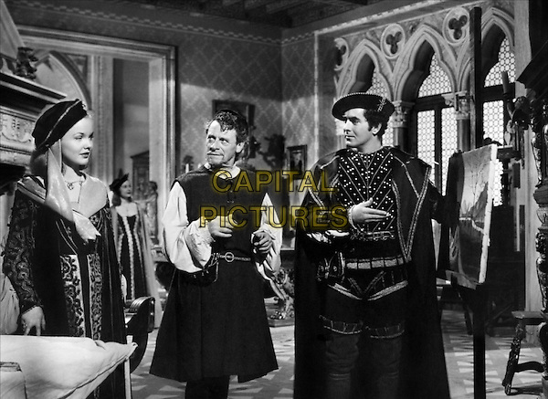 (L to R) Wanda Hendrix, Eduardo Ciannelli, Tyrone Power, Jr..in Prince of Foxes .*Filmstill - Editorial Use Only*.CAP/PLF.Supplied by Capital Pictures.
