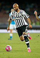 Juventus' Simone Zaza   controls the ball during the  italian serie a soccer match against    SSc     at  the San  Paolo   stadium in Naples  Italy , September 26 , 2015