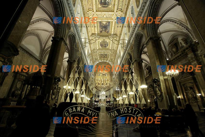 Napoli 28/02/2013 Duomo Preghiera per il Santo Padre Benedetto XVI e per i cardinali partecipanti al prossimo Conclave.Photo Matteo Ciambelli / OneShot / Insidefoto