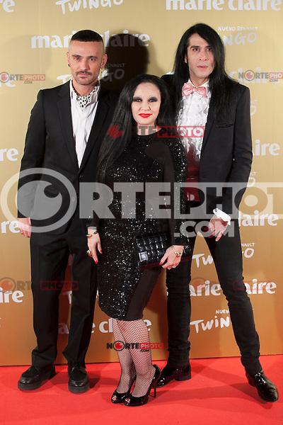 Alaska y Mario Vaquerizo attends Marie Claire´s XII Fashion Prix ceremony in Madrid, Spain. November 19, 2014. (ALTERPHOTOS/Victor Blanco)
