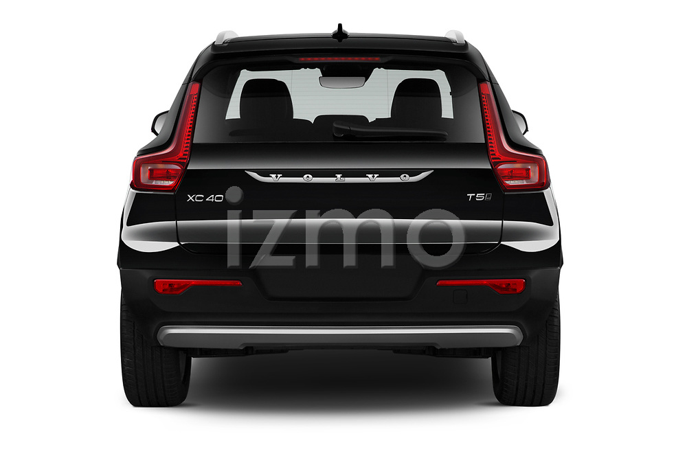 Straight rear view of 2020 Volvo XC40 Momentum 5 Door SUV Rear View  stock images