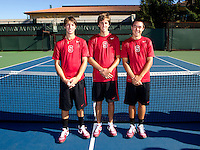 Freshman members of  Stanford Men's Tennis Team Photo taken on Wednesday, September 25, 2013.