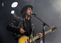 CARHAIX-PLOUGUER, FRANCE - JULY 16, 2016: Singer Carl Barat of The Libertines performs at the Festival des Vieilles Charrues, Carhaix-Plouguer, France<br /> Picture: Kristina Afanasyeva / Featureflash