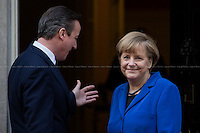27.02.2014 - The German Chancellor Angela Merkel at 10 Downing Street