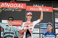 Dries de Bondt (BEL/Corendon Circus) wins the 72nd Halle - Ingooigem 2019 (BEL/1.1) > a race he won before in 2016<br /> <br /> Piotr Havik (NED/BEAT) is 2nd before Philippe Gilbert (BEL/Deceuninck-Quickstep)<br /> <br /> 1 day race from Halle to Ingooigem (201km)<br /> <br /> ©kramon