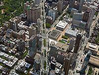 aerial photograph Broadway and Columbus Avenue, Manhattan, New York City