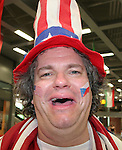 12 June 2006: A U.S. fan. The United States played the Czech Republic at Veltins Arena in Gelsenkirchen, Germany in match 10, a Group E first round game, of the 2006 FIFA World Cup.
