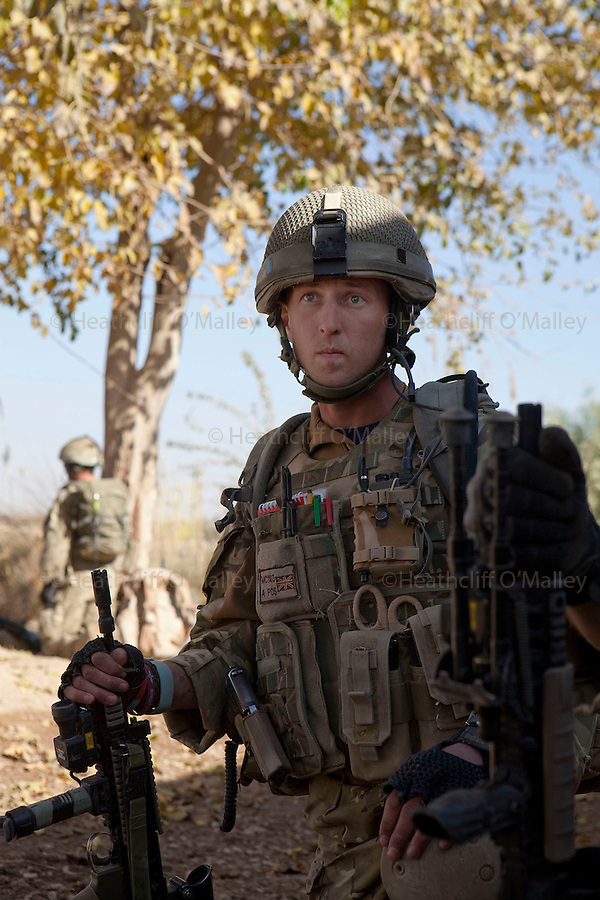 A Medic attached to A coy, 3 Para under the command of Lt Jamie Macdonald in CP Qudtrat in the northern Nad e Ali district of Helmand. ..Helmand 3 December 2010