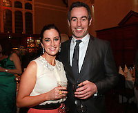 Repro Free.from left to right: Ciara Whelan and Jon Slattery TV3 Holiday Show.Travel Extra,Travel Journalist of the Year Awards at the Thomas Prior House Ballsbridge. The event which was sponsored by The Spanish Tourist board gave out 12 awards for different catagories. .This year saw a huge increase in the number of submissions from previous years, displaying the creativity and continuning innovation of travel and tourism journalism in Ireland..Collins Photos 25/1/13