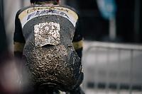 Thijs Aerts' (BEL/Telenet Fidea Lions) post-race behind...<br /> <br /> U23 Men's Race<br /> CX Vlaamse Druivencross Overijse 2017