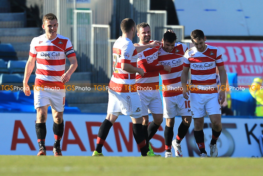 Harry Forrester of Doncaster Rovers celebrates the opener - Gillingham vs Doncaster Rovers - Sky Bet League One Football at Priestfield Stadium, Gillingham, Kent - 07/03/15 - MANDATORY CREDIT: Simon Roe/TGSPHOTO - Self billing applies where appropriate - contact@tgsphoto.co.uk - NO UNPAID USE