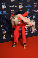 Amy Fuller and Elise Christie<br /> arriving for the BT Sport Industry Awards 2018 at the Battersea Evolution, London<br /> <br /> ©Ash Knotek  D3399  26/04/2018