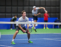 Rotterdam,Netherlands, December 15, 2015,  Topsport Centrum, Lotto NK Tennis, doubles: Maikel Borg/Gijs Brouwer (R)<br /> Photo: Tennisimages/Henk Koster
