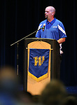 Tyler Baker speaks to fellow graduates as more than 100 students received their High School Equivalency during a Western Nevada College ceremony in Carson City, Nev., on Monday, June 19, 2017. <br />Photo by Cathleen Allison/Nevada Photo Source