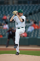 Charlotte 49ers starting pitcher Ryan Czanstkowski (34) in action against the Clemson Tigers at BB&T BallPark on March 26, 2019 in Charlotte, North Carolina. The Tigers defeated the 49ers 8-5. (Brian Westerholt/Four Seam Images)
