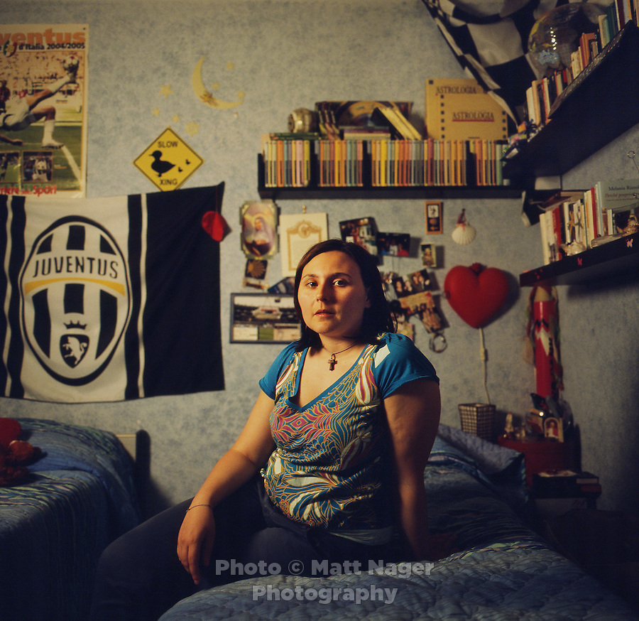 Mariangela Notaro (cq), who has struggled with Pituitary Microabenoma and endometriosis affecting her hormonal system resulting in general fatigue and depression, at her home in Marigliano, Italy, June 8, 2010. Notaro, whose problems are common of people living in heavy industrial areas, lives near traditionally fertile farm land and countryside. She is currently undergoing testing and health exams to try an minimize the development of further health issues...PHOTOS/ MATT NAGER