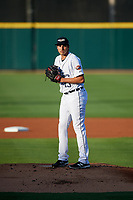 Lakeland Flying Tigers starting pitcher Alex Faedo (13) gets ready to deliver a pitch during a game against the Tampa Tarpons on April 6, 2018 at Publix Field at Joker Marchant Stadium in Lakeland, Florida.  Lakeland defeated Tampa 6-5.  (Mike Janes/Four Seam Images)