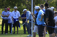 Charl Schwartzel (RSA) on the 1st  during Round 1 of the ISPS HANDA Perth International at the Lake Karrinyup Country Club on Thursday 23rd October 2014.<br /> Picture:  Thos Caffrey / www.golffile.ie