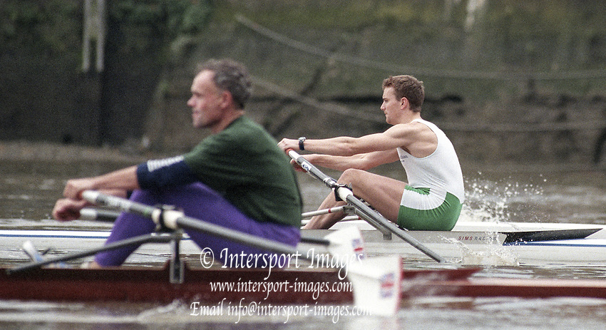 Putney. London. GREAT BRITAIN;  IRL LM1X. Niall O&quot;TOOLE. <br /> <br /> 1995 Thames World Sculling Championships, Putney to Mortlake. Championship Course, River Thames.<br /> <br /> [Mandatory Credit; &quot;Photo, Peter Spurrier/Intersport-images]