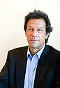 Imran Khan ,ex Pakistani Test Match cricketer  and now politician, at Blenheim Palace at  The Woodstock  Literary Festival in Oxfordshire  2011.   . Credit Geraint Lewis