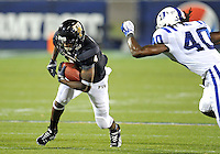 Florida International University football player wide receiver T.Y. Hilton (4) plays against the Duke University on October 01, 2011 at Miami, Florida. Duke won the game 31-27. .