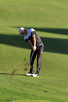 Justin Rose (ENG) plays his 2nd shot on the 18th hole during Thursday's Round 1 of the 2018 Turkish Airlines Open hosted by Regnum Carya Golf &amp; Spa Resort, Antalya, Turkey. 1st November 2018.<br /> Picture: Eoin Clarke | Golffile<br /> <br /> <br /> All photos usage must carry mandatory copyright credit (&copy; Golffile | Eoin Clarke)