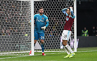 Burnley's Dwight McNeil rues a missed chance as Watford's Ben Foster looks on<br /> <br /> Photographer Andrew Kearns/CameraSport<br /> <br /> The Premier League - Watford v Burnley - Saturday 19 January 2019 - Vicarage Road - Watford<br /> <br /> World Copyright © 2019 CameraSport. All rights reserved. 43 Linden Ave. Countesthorpe. Leicester. England. LE8 5PG - Tel: +44 (0) 116 277 4147 - admin@camerasport.com - www.camerasport.com