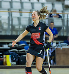 Almere - Zaalhockey  Amsterdam-HGC (v) . Charlotte Adegeest (A'dam)   .  TopsportCentrum Almere.    COPYRIGHT KOEN SUYK