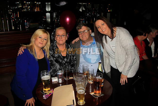 Regina Fitzpatrick, Mary O'Rourke, Paul Fitzpatrick and Paula Fitzpatrick enjoying a night out in McHughs on Saturday 15th November 2014.<br /> Picture:  TJ Caffrey / www.newsfile.ie