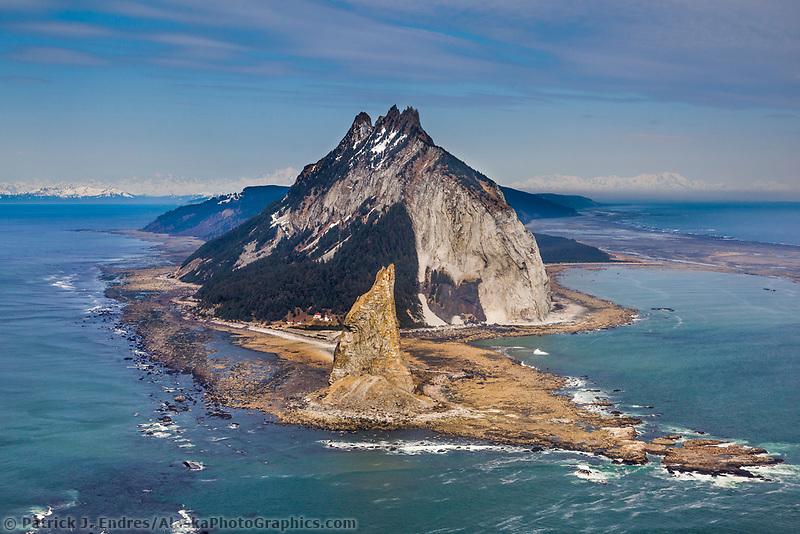 Aerial of Kayak Island, Gulf of Alaska, southcentral, Alaska.