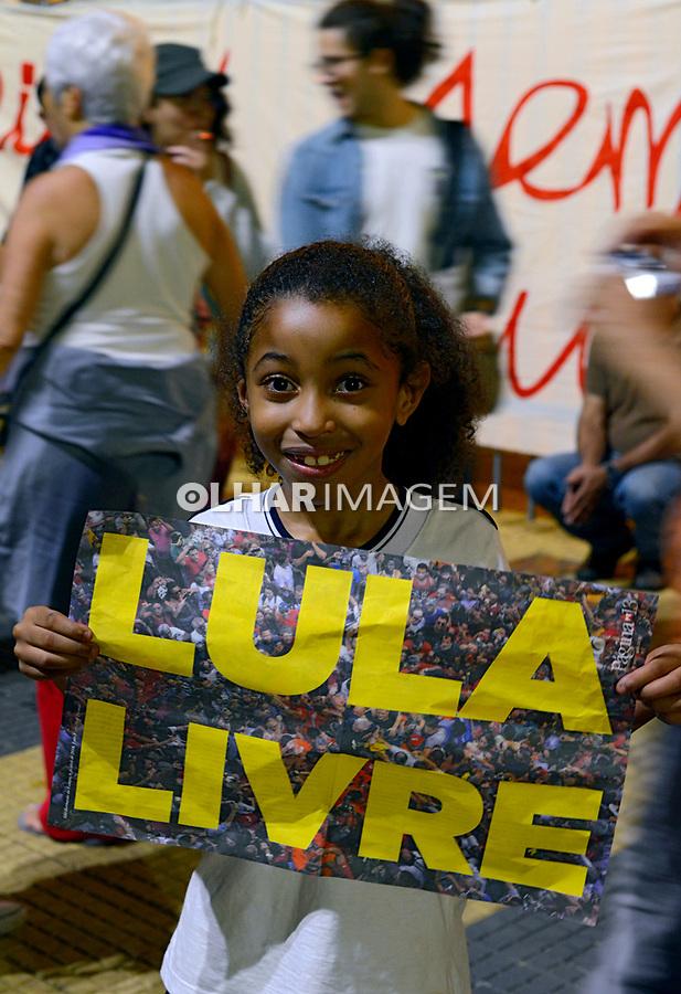 Manifestaçao Lula Livre contra prisao de Lula, Praça da Republica, Sao Paulo. 2018, Foto © Juca Martins.