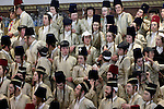 Israel, Jerusalem. Purim holiday at ?Toldot A?aron? in the Ultra Orthodox Me?a She?arim quarter, 2005<br />