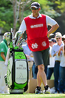 Tim Mickelson caddies for brother Phil after Bones turned ill  during round 2 of the World Golf Championships, Mexico, Club De Golf Chapultepec, Mexico City, Mexico. 3/3/2017.<br /> Picture: Golffile | Ken Murray<br /> <br /> <br /> All photo usage must carry mandatory copyright credit (&copy; Golffile | Ken Murray)