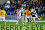 Bernard Walsh South Kerry in action against Conor Keane  Legion at the Kerry County Senior Football Final at Fitzgerald Stadium on Sunday.