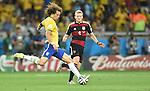 David Luiz (BRA), Andre Schurrle (GER),<br /> JULY 8, 2014 - Football / Soccer :<br /> FIFA World Cup Brazil 2014 Semi-finals match between Brazil 1-7 Germany at Estadio Mineirao in Belo Horizonte, Brazil. (Photo by SONG Seak-In/AFLO)