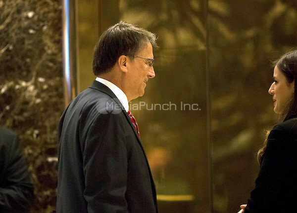 Governor Pat McCrory (Republican of North Carolina) arrives at Trump Tower in Manhattan, New York, USA on Wednesday, December 7, 2016. <br /> Credit: John Taggart / Pool via CNP /MediaPunch