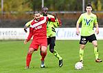 2017-11-05 / voetbal / seizoen 2017-2018 / VC Herentals - Hoeilaart / Ibrahim Danisik (l) (VC Herentals) houdt Chris Mpati Kalunseyetiko (r) (Hoeilaart) af