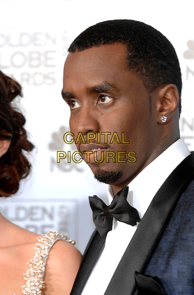 "SEAN ""P DIDDY PUFF DADDY"" COMBS.Pressroom  - 64th Annual Golden Globe Awards, Beverly Hills HIlton, Beverly Hills, California, USA. .January 15th, 2007.globes headshot portrait bow tie goatee facial hair .CAP/PL.©Phil Loftus/Capital Pictures"