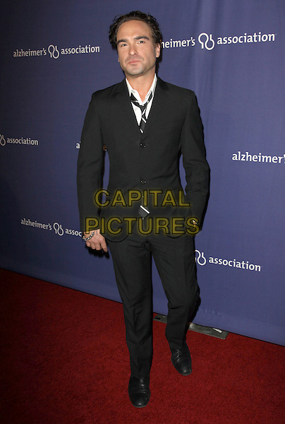 """JOHNNY GALECKI.18Th Annual """"A Night at Sardi's"""" Benefitting The Alzheimer's Association held At The Beverly Hilton Hotel, Beverly Hills, California, USA..March 18th, 2010.full length black suit hand in pocket .CAP/ADM/KB.©Kevan Brooks/AdMedia/Capital Pictures."""