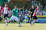 04.09.2018, Hoheellern-Stadion, Leer, GER, FSP, Werder Bremen (GER) vs FC Emmen (NED)<br /> <br /> DFL REGULATIONS PROHIBIT ANY USE OF PHOTOGRAPHS AS IMAGE SEQUENCES AND/OR QUASI-VIDEO.<br /> <br /> im Bild / picture shows<br /> Max Kruse (Werder Bremen #10) mit Torschuss, <br /> <br /> Foto © nordphoto / Ewert