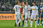 04.11.2018, Stadion im Borussia-Park, Moenchengladbach, GER, 1. FBL, Borussia Moenchengladbach vs. Fortuna Duesseldorf, DFL regulations prohibit any use of photographs as image sequences and/or quasi-video<br /> <br /> im Bild Schlussjubel / Schlu&szlig;jubel / Emotion / Freude / die Mannschaft von Moenchengladbach <br /> <br /> Foto &copy; nordphoto/Mauelshagen
