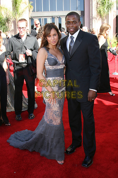 HILL HARPER & GUEST.Red Carpet Arrivals - 58th Annual Primetime Emmy Awards held at the Shrine Auditorium,  Los Angeles, California, USA, 27 August 2006..emmys full length.Ref: ADM/ZL.www.capitalpictures.com.sales@capitalpictures.com.©Zach Lipp/AdMedia/Capital Pictures.