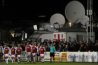 Lewis Coyle (#2) of Fleetwood Town is sent off during Chorley vs Fleetwood Town, Emirates FA Cup Football at Victory Park on 6th November 2017