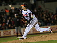 Wilmer Rios pitcher de Naranjeros , durante el tercer juego de la Serie entre Tomateros de Culiacán vs Naranjeros de Hermosillo en el Estadio Sonora. Segunda vuelta de la Liga Mexicana del Pacifico (LMP) **26Dici2015.<br /> **CreditoFoto:LuisGutierrez<br /> **<br /> Shares during the third game of the series between Culiacan Tomateros vs Orange sellers of Hermosillo in Sonora Stadium. Second round of the Mexican Pacific League (PML)