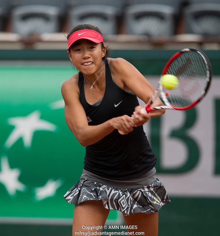 SHUAI ZHANG (CHN)<br /> <br /> Tennis - French Open 2014 -  Toland Garros - Paris -  ATP-WTA - ITF - 2014  - France -  25 May 2014. <br /> <br /> &copy; AMN IMAGES